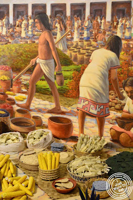 Imqge of Aztec Market at the Museum of Natural History in NYC, New York - Global kitchen exhibit