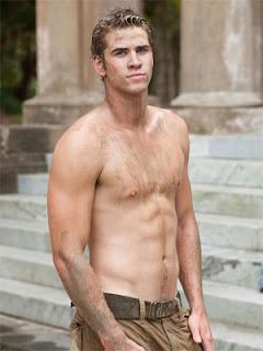 Liam Hemsworth for Bench shirtless
