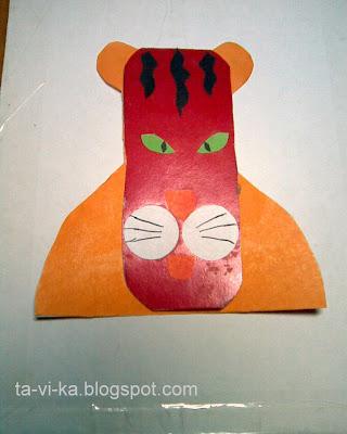 новогодняя открытка с годом тигра