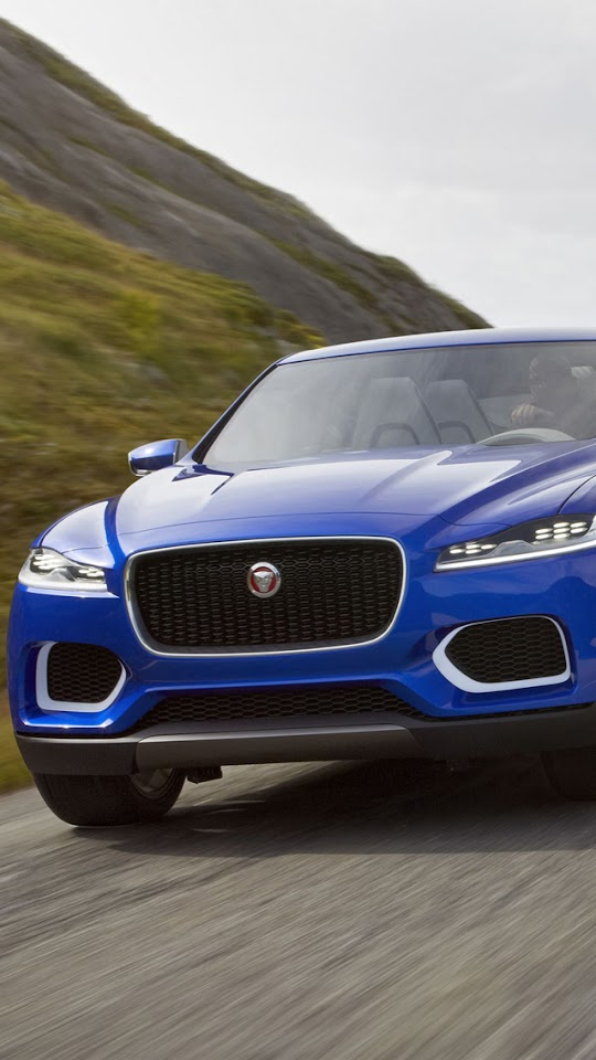 2013 Jaguar C-X17 Blue   Galaxy Note HD Wallpaper