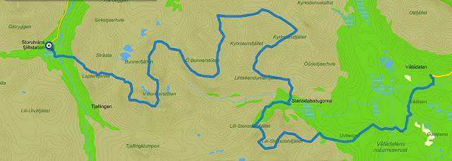 karta vålådalen