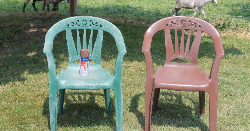 painting plastic chairs. Black Bedroom Furniture Sets. Home Design Ideas