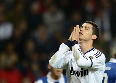 Cristiano sad after draw against Espanyol
