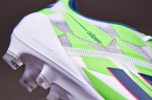 Adidas F50 Adizero with Solar Green football boots