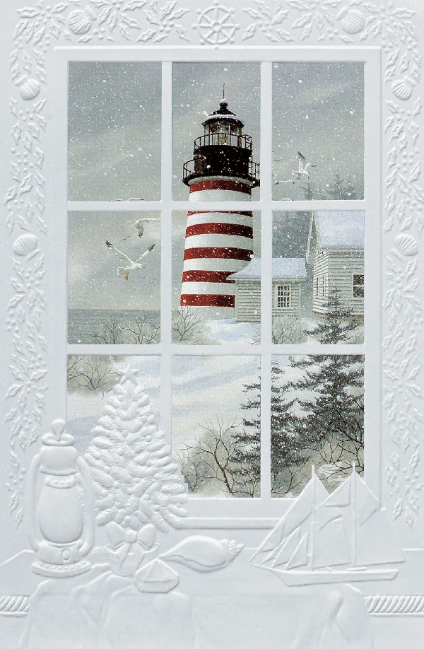 none: A Lighthouse Christmas Card