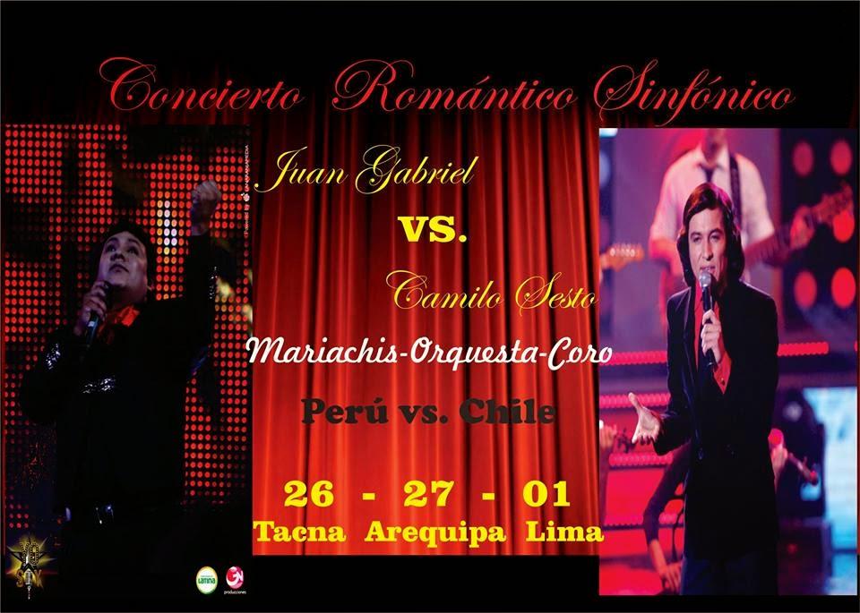 Juan Gabriel y Camilo Sesto en Arequipa
