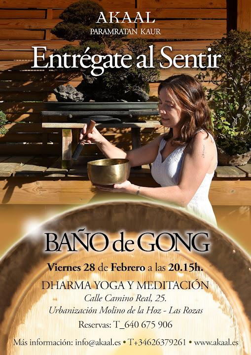 BAÑO DE GONG 28 DE FEBRERO ,DHARMA YOGA Y MEDITACIÓN,LAS ROZAS