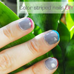 Color Striped Nails DIY
