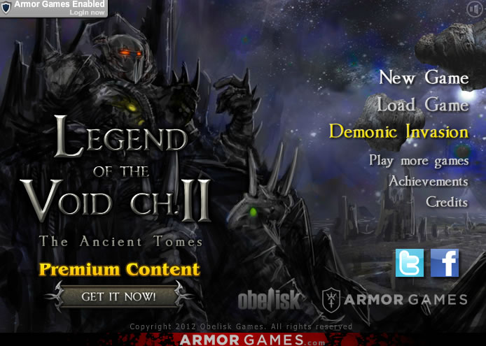 Unblocked Game : Legend of the Void Chapter 2