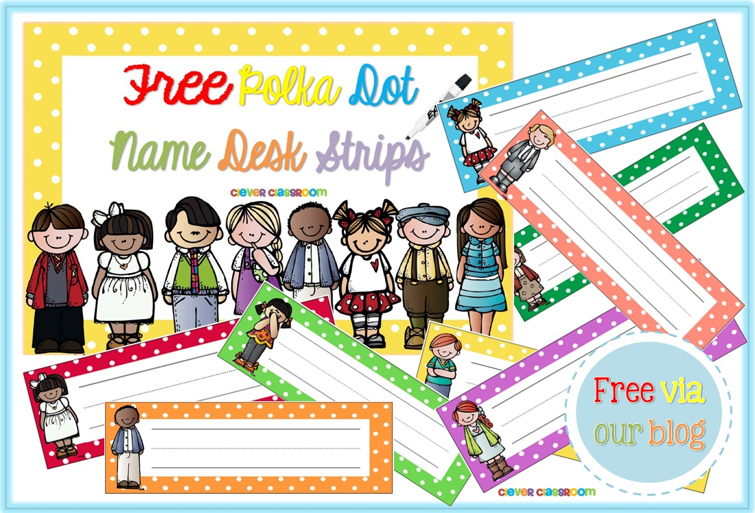 Free PDF file Polka Dot Desk Stips