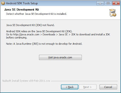 Android SDK cannot detect JDK