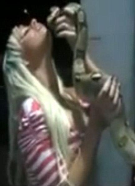 Snake dies boob silicone