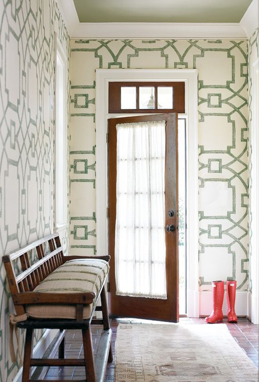 Foyer Wallpaper Love : The peak of très chic wallpapers to love