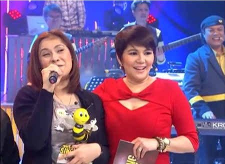 Sheryl Cruz, the 1st millionaire of the new Singing Bee hosted by Kuya Dick and Chang Amy