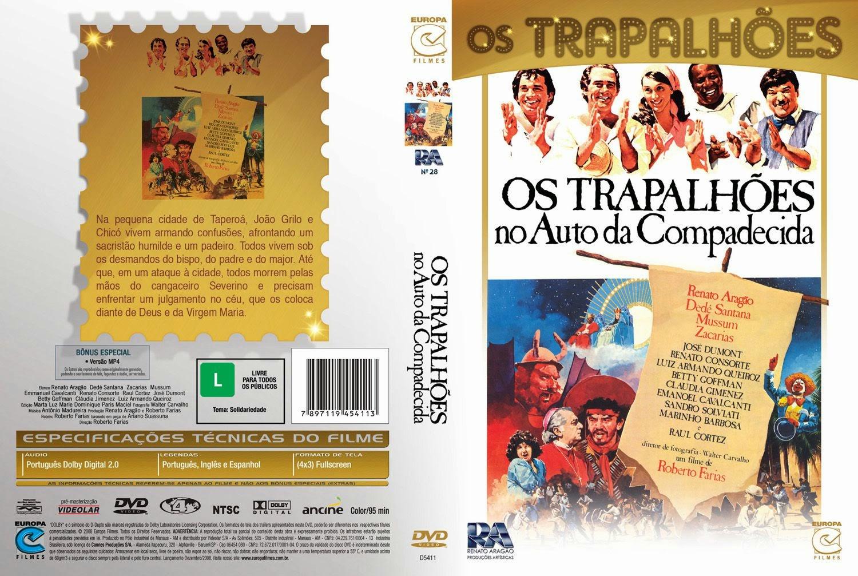 Capa DVD Os Trapalhões No Auto Da Compadecida
