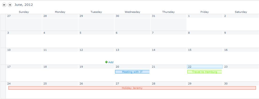SharePoint Developer: Color coding calendar in SharePoint 2010