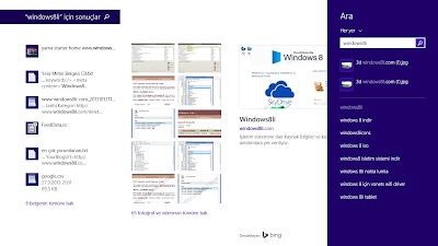 Windows 8.1 Arama
