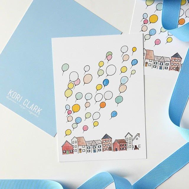 Kori Clark Design balloon watercolor