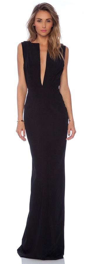 womens fashion elegant black maxi dress