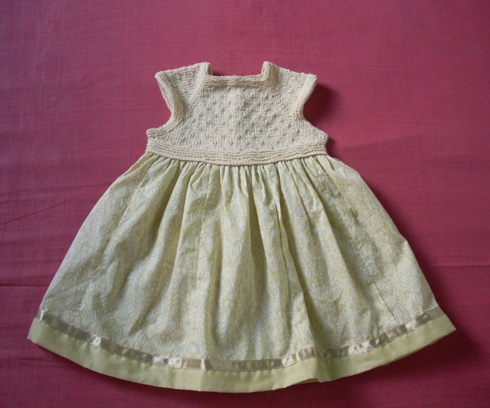 Umme Yusuf Baby Dress with Knitted Yoke