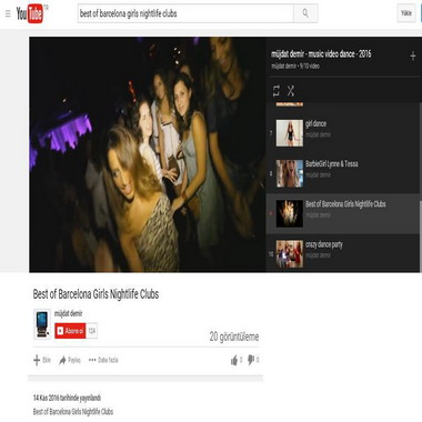 youtube com - best of barcelona girls nightlife clubs