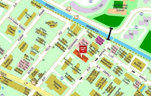 Map of Jalan Ampas Studio