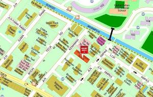 Map of Jalan Ampas Studio