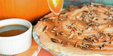This Layered Pumpkin and Ice Cream Pie is perfect for a Thanksgiving dessert table. It stays in the freezer until it's ready to serve, so it can be made well over a week in advance. Plus...this recipe makes TWO!