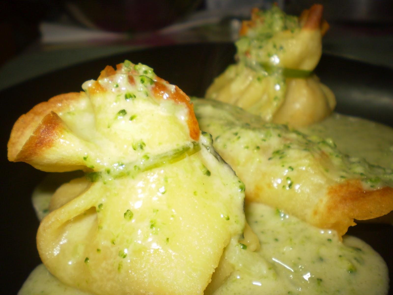 Aficionados por la cocina crepes orientales con salsa verde - Ingredientes para crepes ...