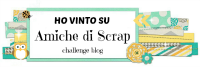 Winner at Amiche de Scraps (Italy) Sept 14