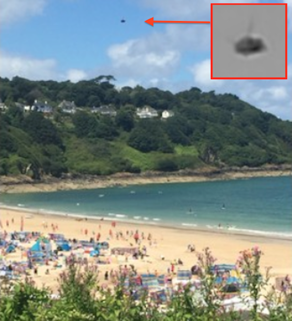 UFO Sighting Spotted Above Cornwall England 2015, UFO Sightings