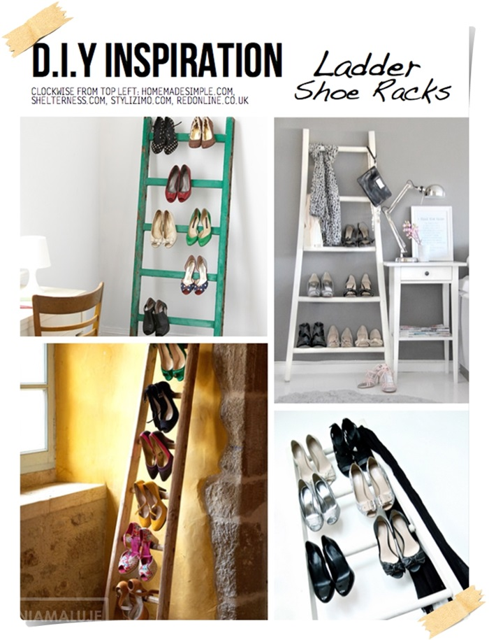 shoes ladder organizer, shoe rack