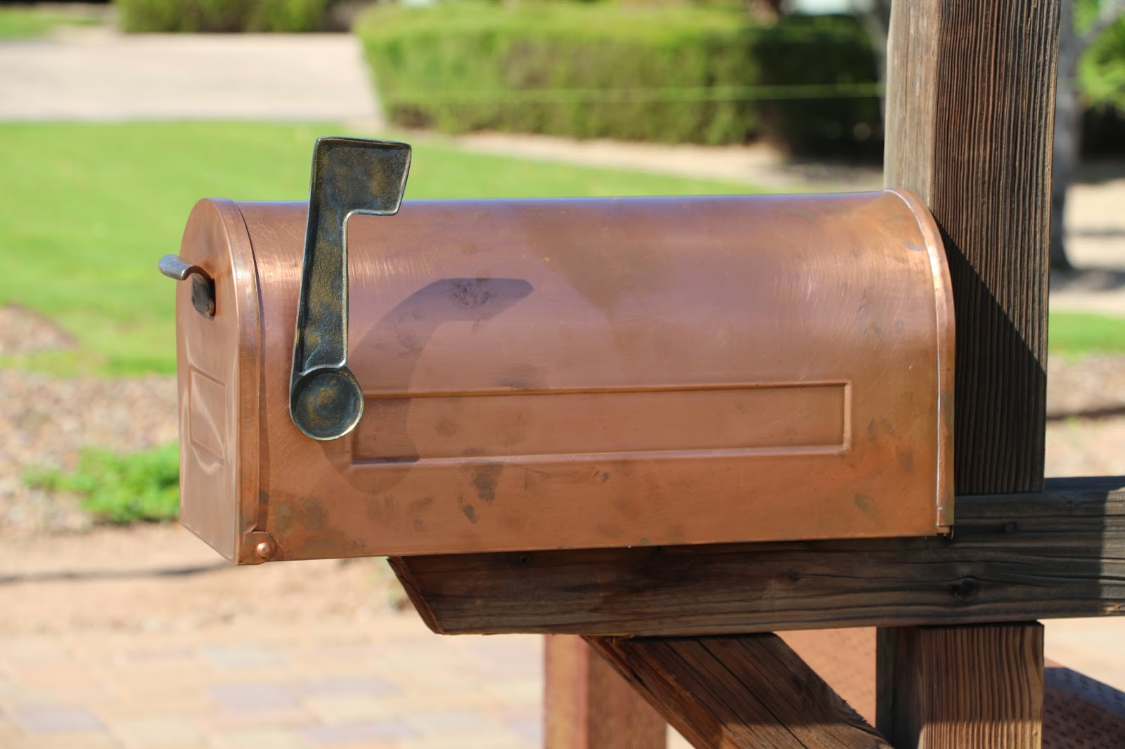copper mailbox, unique mailboxes