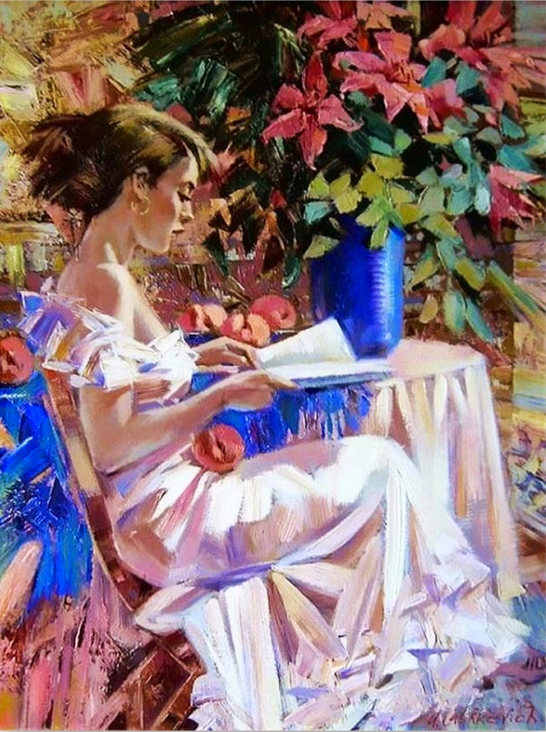 mujeres-con-flores-en-pintura