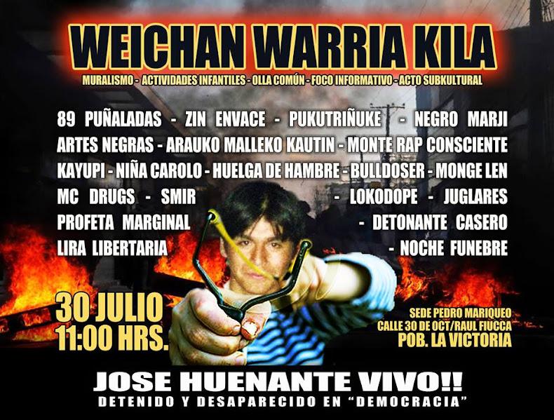 PAC:  WEICHAN WARRIA KILA, JOSE HUENANTE VIVO