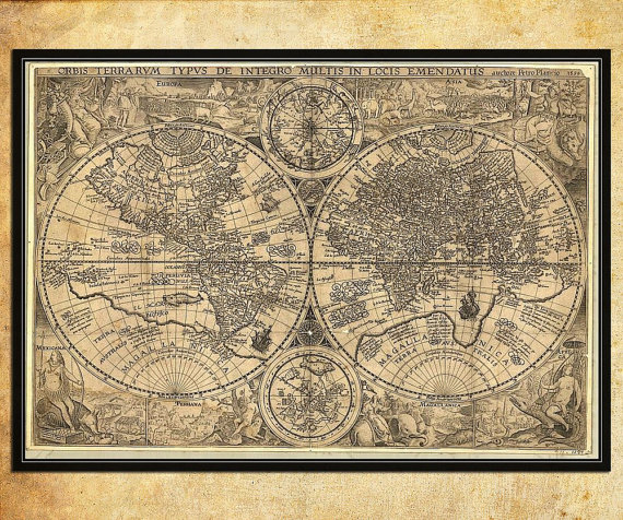 Sincerely sara style books gifts for history geeks old world map by aprint etsy gumiabroncs Image collections