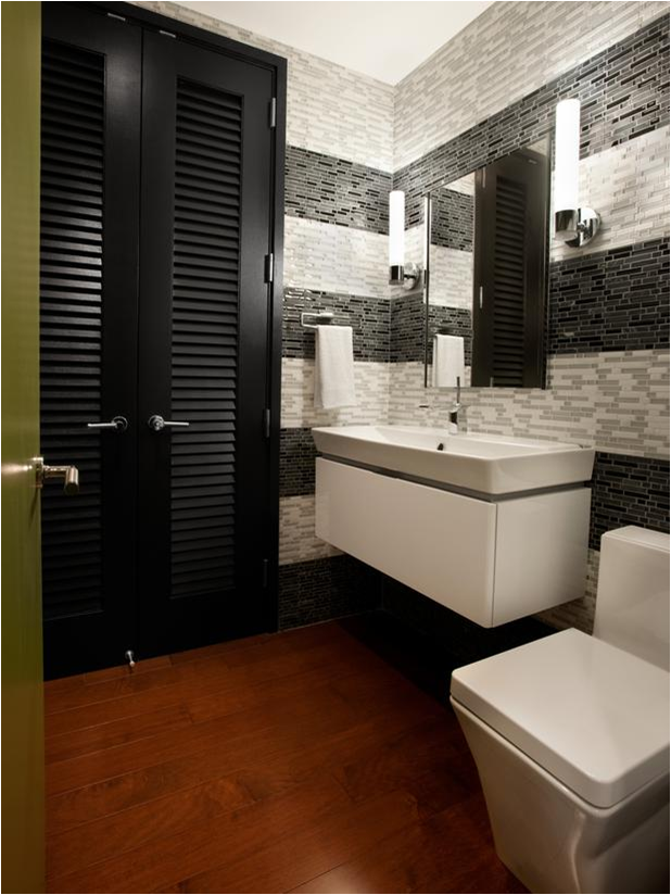 Mid century modern bathroom design ideas room design ideas for Restroom decoration pictures