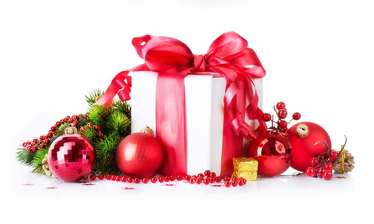 Banco de im genes 6 im genes con regalos de navidad y for Dibujos adornos navidad