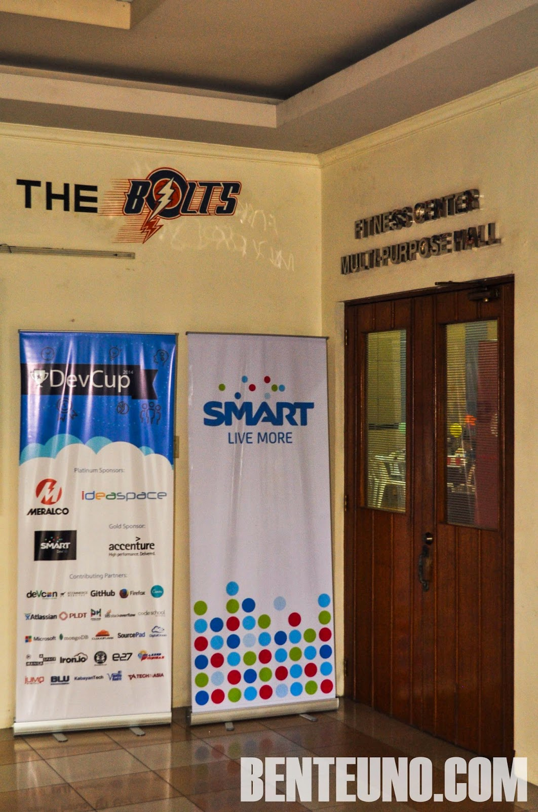 entrance of Meralco Multi-purpose hall in Ortigas. Used for DevCup 2014