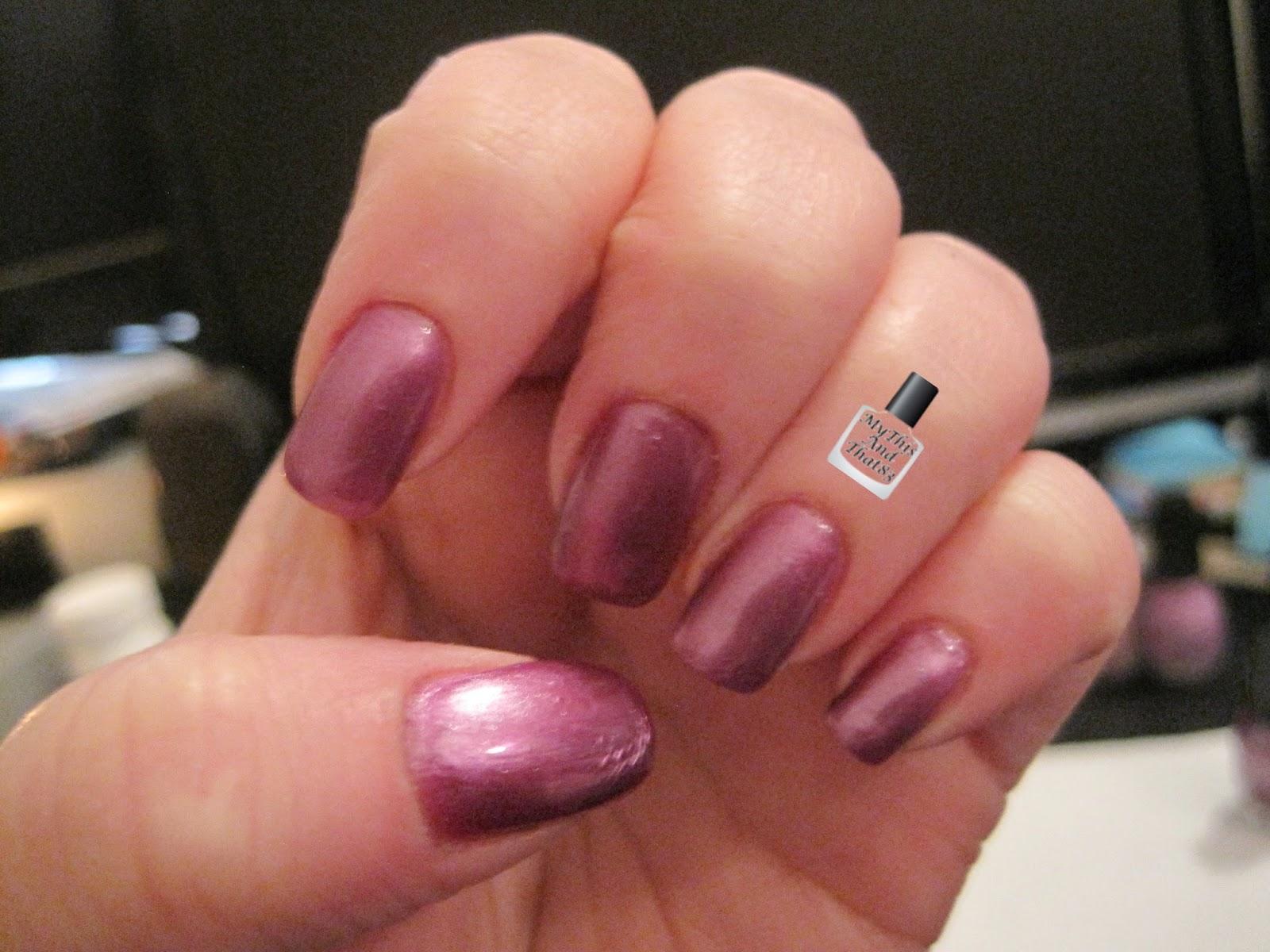 Kleancolor Purple nail polish