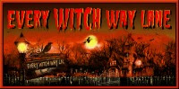 Every Witch Way Lane... Great Halloween Art Here...