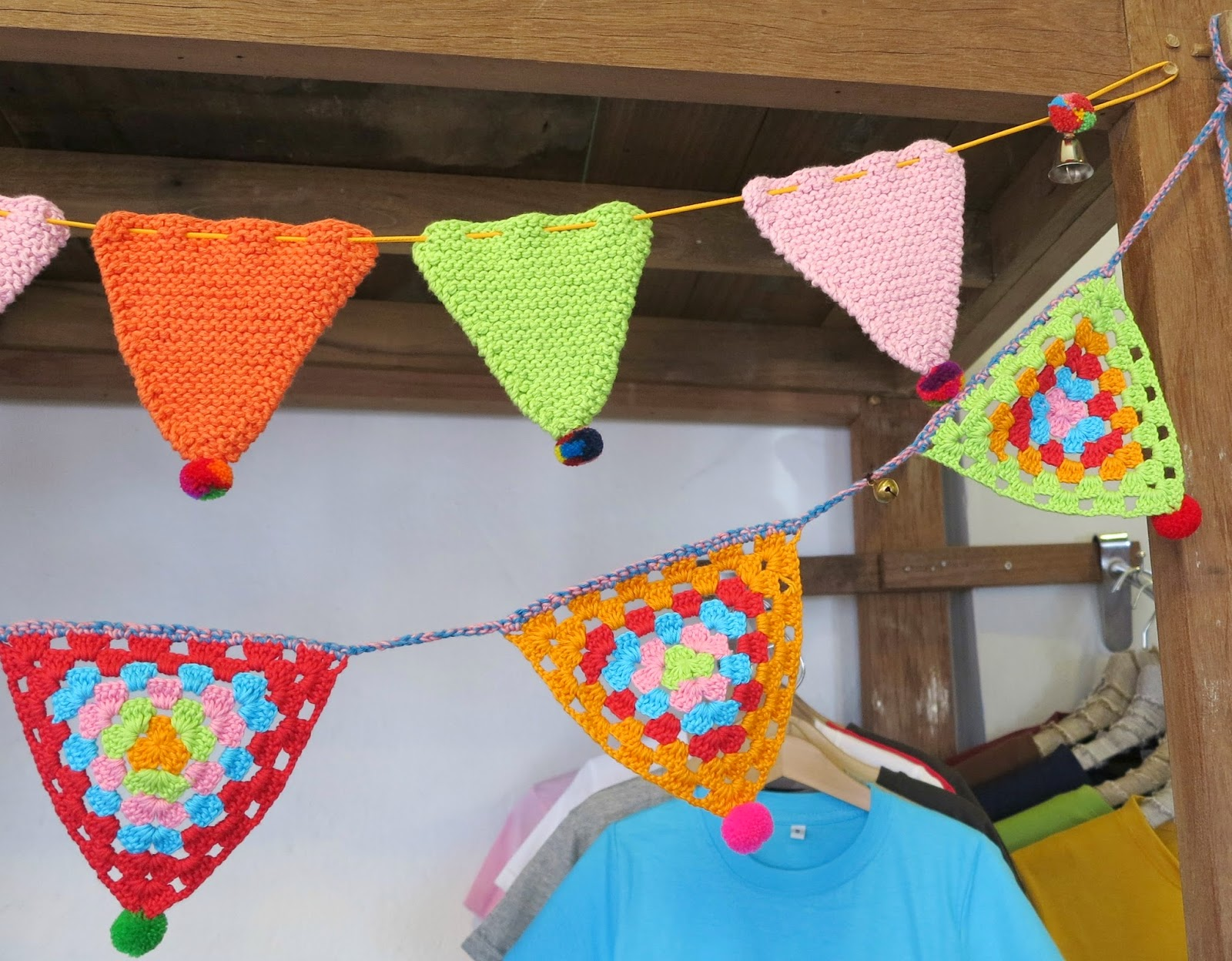 ByHaafner, crochet, Bantakor, Chiang Mai, bunting, garland