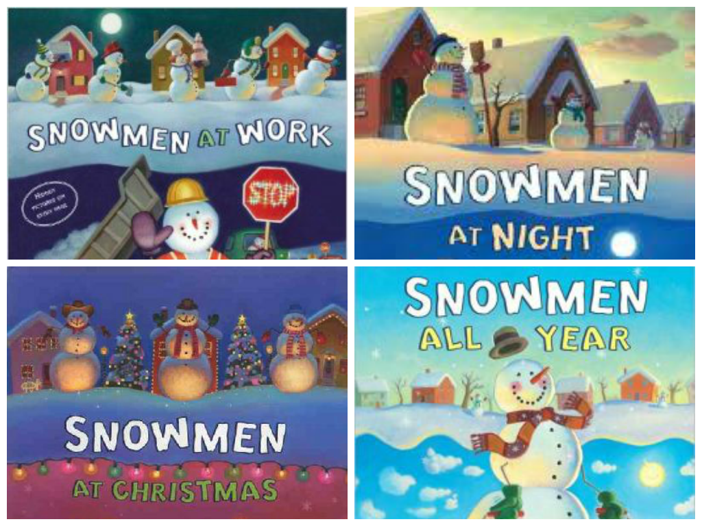 http://www.teacherspayteachers.com/Product/Snowmen-at-Night-at-Work-at-Christmas-and-All-Year-Book-Companion-1578508