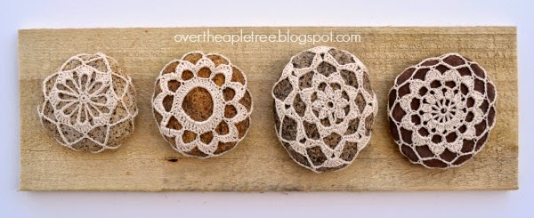 Crochet rocks make a fun end of year gift for teachers, Over The Apple Tree