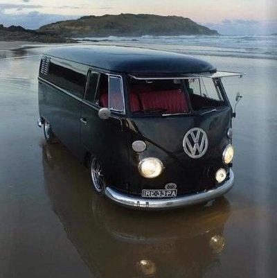 Bulky Bus, on Sea Shore
