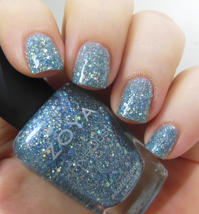 Zoya Vega swatch top coated