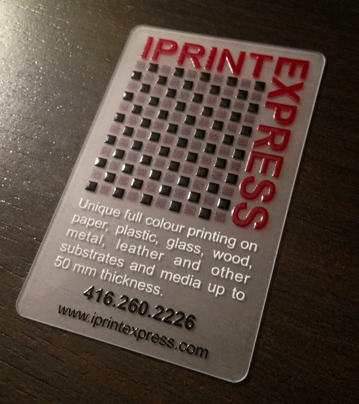 FROSTED CLEAR PLASTIC CARDS | iPrint Express - Toronto Digital ...