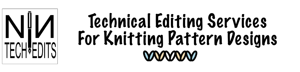 Knitting Patterns Technical Editing