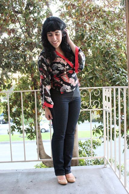 Kimono Top and Jeans