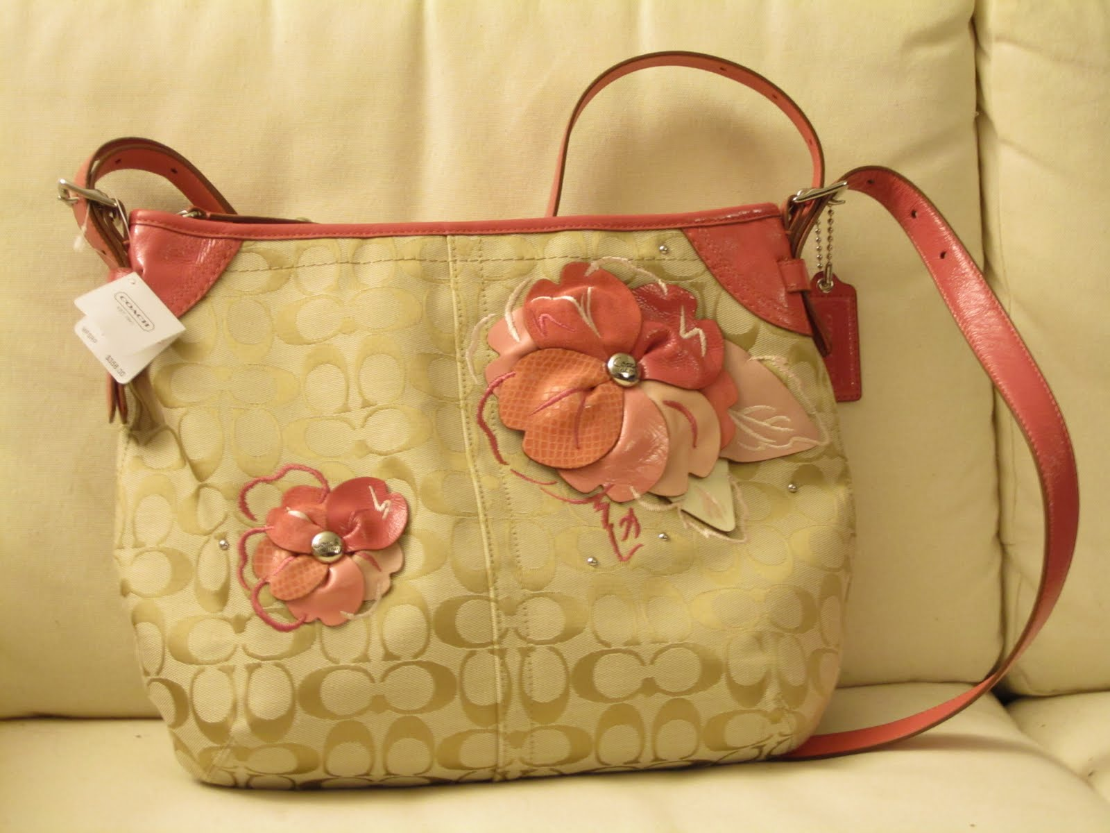 I Buy You Buy I Saved You Saved Coach Signature Floral Applique